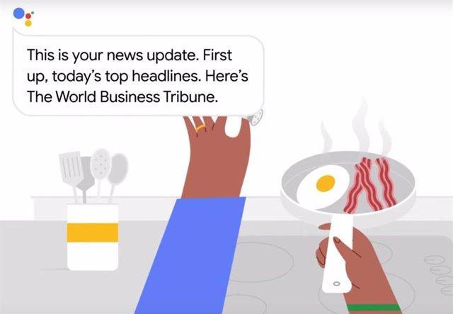 El Asistente de Google prepara una lista de reproducción de noticias hecha a med