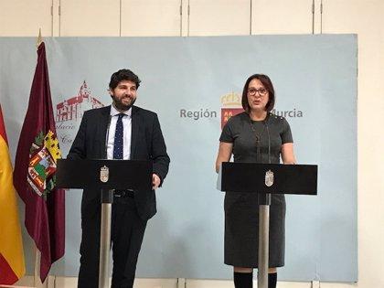 """López Miras y Franco coinciden en que el gobierno de coalición está """"unido"""" y apuestan por la recuperación del Mar Menor"""