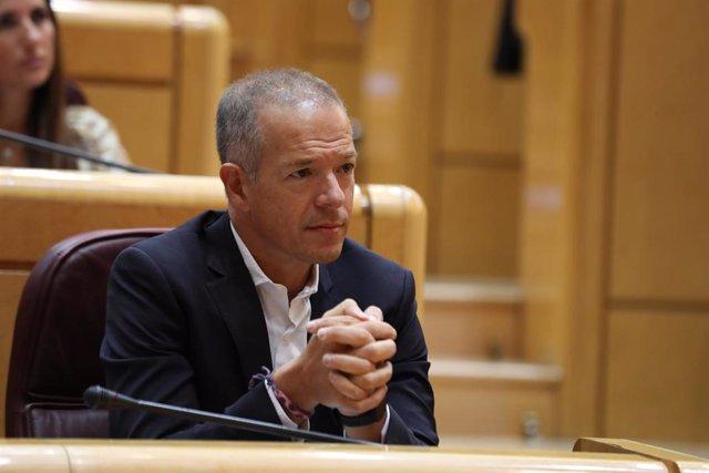 El portavoz en el Senado del PSOE, Ander Gil, durante la segunda sesión del primer pleno de la XIII legislatura, en Madrid (España) a 11 de septiembre de 2019.