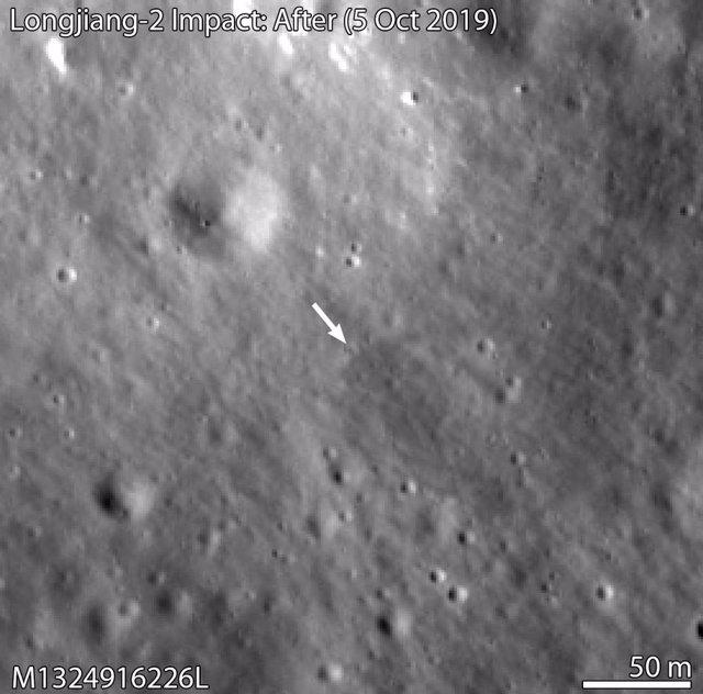 Localizan dónde impactó un microsatélite chino en la cara oculta lunar