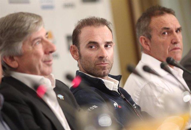 Alejandro Valverde en los Desayunos Deportivos de Europa Press