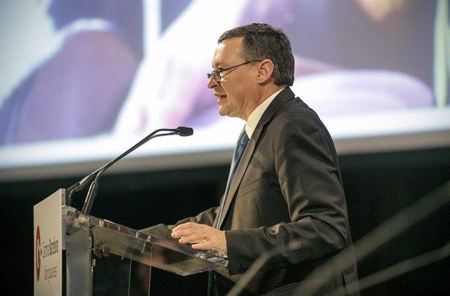 Àngel Simón (Agbar) en una conferència dels 'Dinars Cambra'