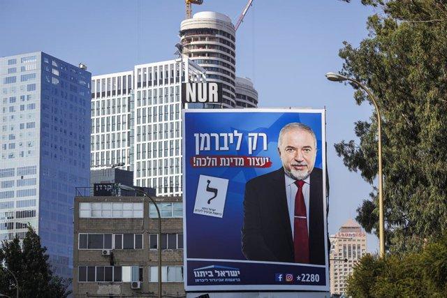 Cartell electoral d'Avigdor Lieberman.