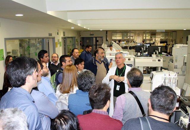 Imagen de la visita al Hospital San Cecilio por profesionales chilenos