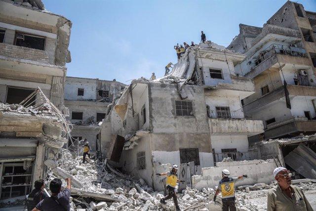 Siria.- Mueren seis civiles, entre ellos cuatro niños, en un bombardeo achacado