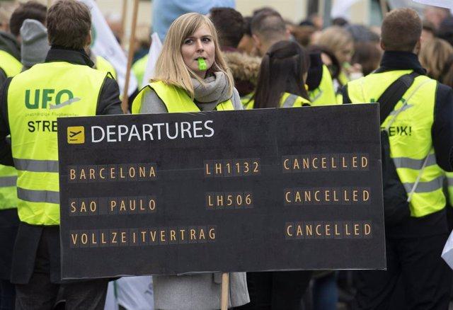 La última huelga convocada por el sindicato UFO a principios del mes de noviembre provocó la cancelación de 1.300 vuelos.