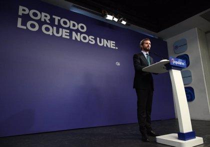 Casado asegura que el PP no colaborará para vetar a Vox en la Mesa del Congreso
