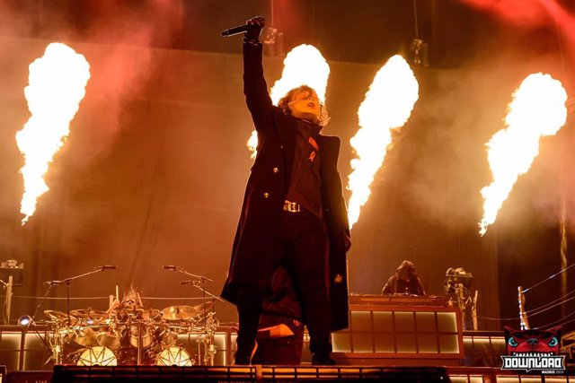 Christian Bertrand de Slipknot durant l'actuació en el Download Festival Madrid