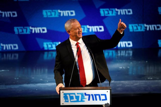 El líder del Partido Azul y Blanco de Israel, Benny Gantz