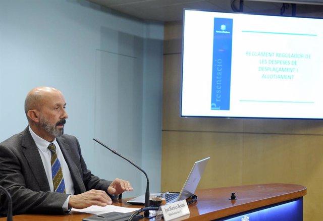 El ministre de Salut, Joan Martínez, en roda de premsa aquest dimecres.
