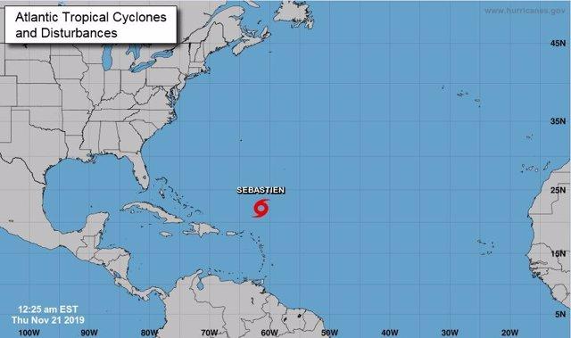 La tormenta 'Sebastián' podría convertirse en huracán
