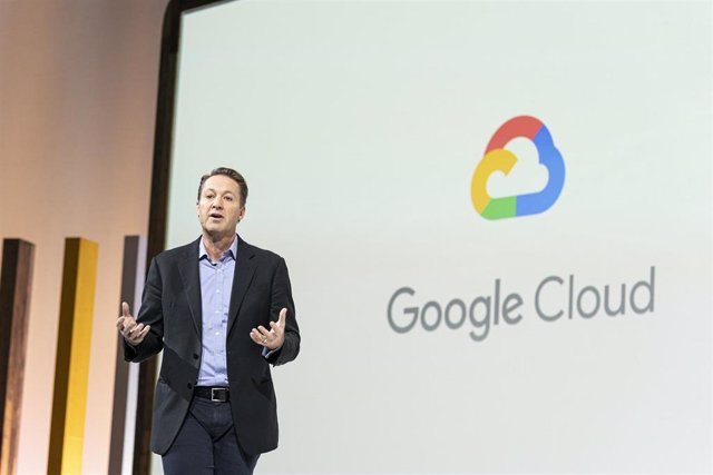 Chris Ciauri, presidente de Google Cloud, hablando durante el evento Google Cloud Next Uk 2019