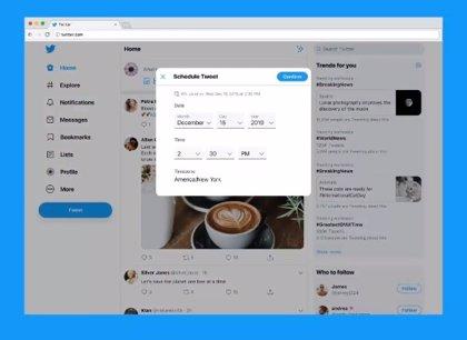 Portaltic.-Twitter prueba la programación de tuits directamente en su plataforma