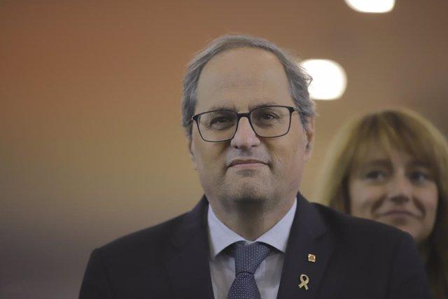 11 de novembre del 2019, Barcelona (Catalunya/Espanya): El president de l Generalitat, Quim Torra.