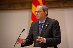 Quim Torra votaria 'no' a Sánchez i demana a UP que defensi l'autodeterminació des del Govern central (David Zorrakino - Europa Press)