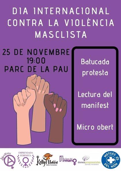 Colectivos feministas de Ibiza convocan una concentración este lunes con motivo del Día contra la Violencia de género