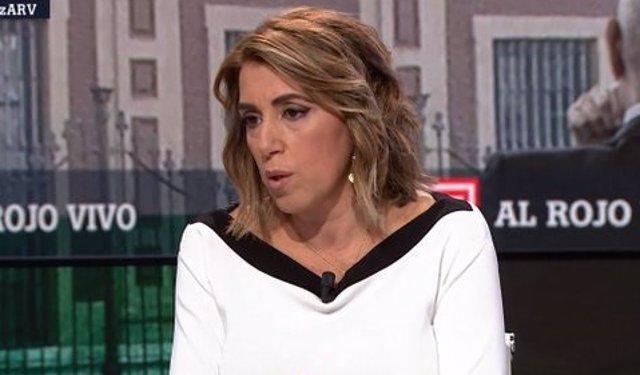 La secretaria general del PSOE-A, Susana Díaz, valora la sentencia de los ERE en una entrevista en La Sexta