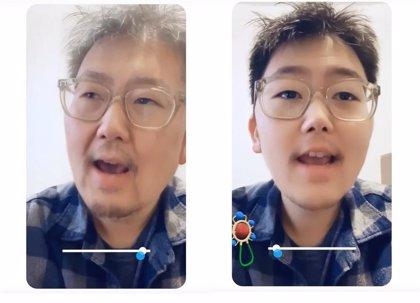 Snapchat introduce una lente que envejece y rejuvenece a sus usuarios