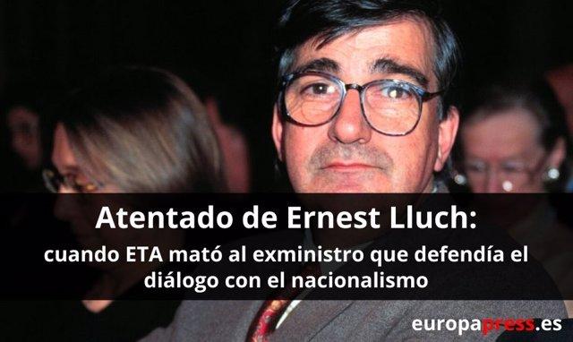 Atentado de ETA contra el exministro socialista Ernest Lluch