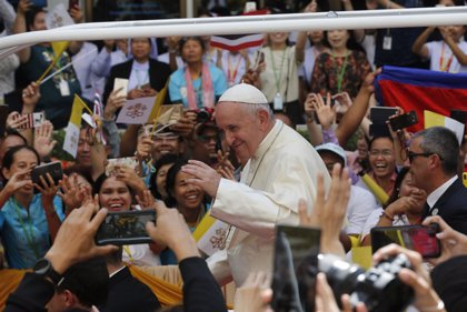 """Papa Francisco.- El Papa llama a los católicos en Tailandia a ejercer la caridad """"abiertos a lo imprevisible"""""""