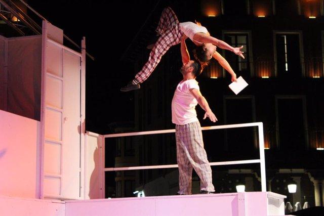 Momento de la puesta en escena de Vigilia, obra que llega al Teatro Cánovas de Málaga y que dirige Jorge Barroso.