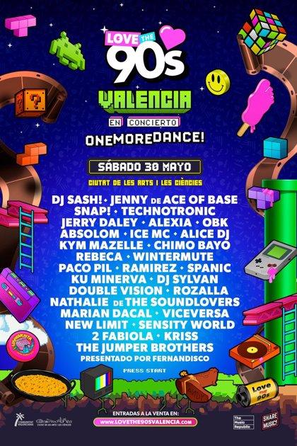 """Love the 90's vuelve en mayo a València con """"el mayor concierto dance de la historia"""""""