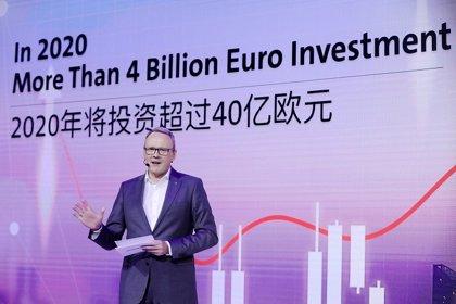 El grupo Volkswagen invertirá más de 4.000 millones en China en 2020 para acelerar su electrificación