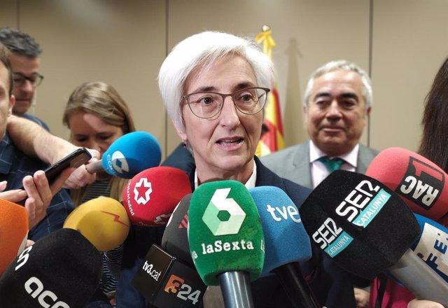 La fiscal general de l'Estat, María José Segarra, visita la Ciutat de la Justícia de Barcelona, 21 de novembre del 2019.