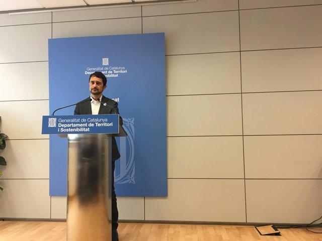 El conseller de Territori i Sostenibilitat de la Generalitat, Dami Calvet.