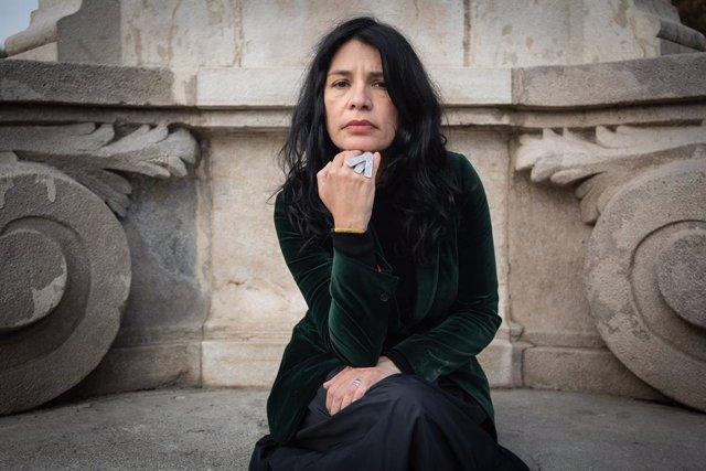 La directora de cinema macedònia,Teona Strugar Mitewska, en una entrevista amb Europa Press després de quedar finalista dels Premis LUX del Parlament Europeu, a Barcelona (Espanya), 21 de novembre del 2019.