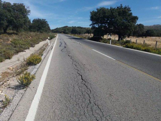 Una carretera de la provincia de Málaga