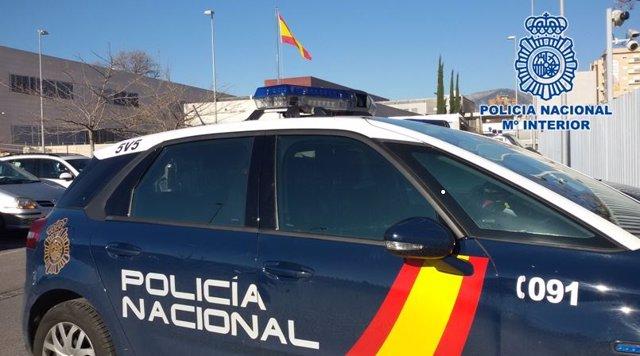 Cotxe patrulla de Policia Nacional.