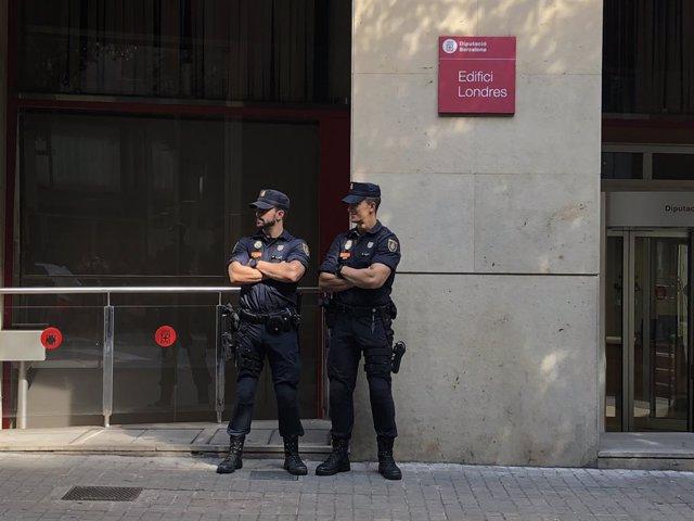 Escorcoll en una seu de la Diputació de Barcelona el maig del 2018 per presumpte desviament de fons (arxiu).