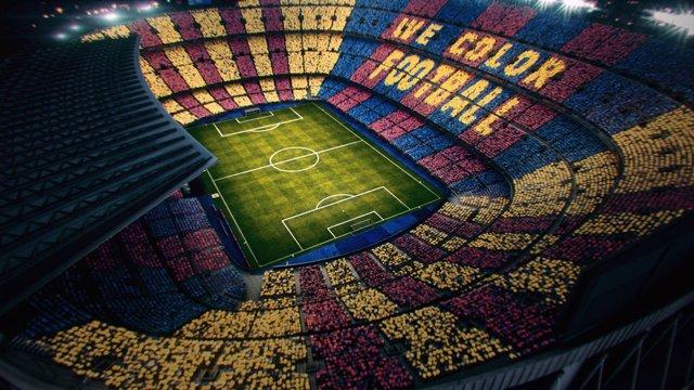 Foto d'arxiu d'un mosaic al Camp Nou