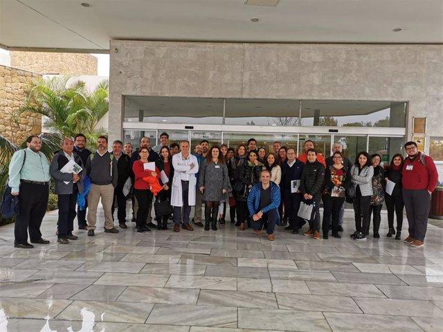 Visita delegación chilena en el Hospital de Alta Resolución de Benalmádena