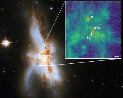 Primera galaxia conocida con tres agujeros negros supermasivos