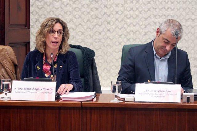 La consellera d'empresa i Coneixement de la Generalitat, Àngels Chacón.