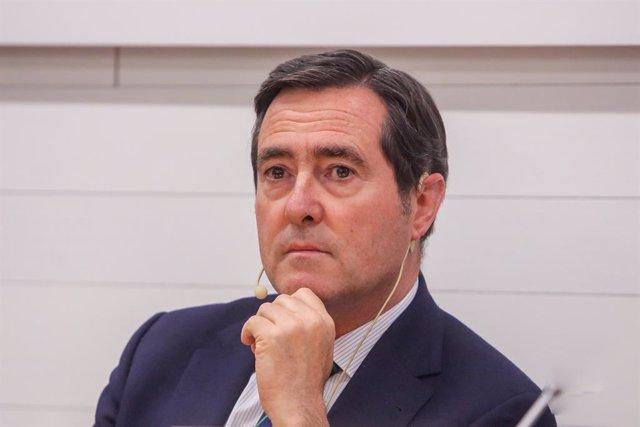 El president de CEOE, Antonio Garamendi