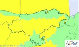 Avisos activos en Cantabria este viernes