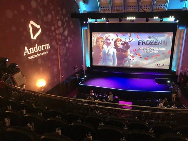 La marca Andorra es promociona en la presentació de Frozen 2 als cinemes Callao de Madrid dimarts passat