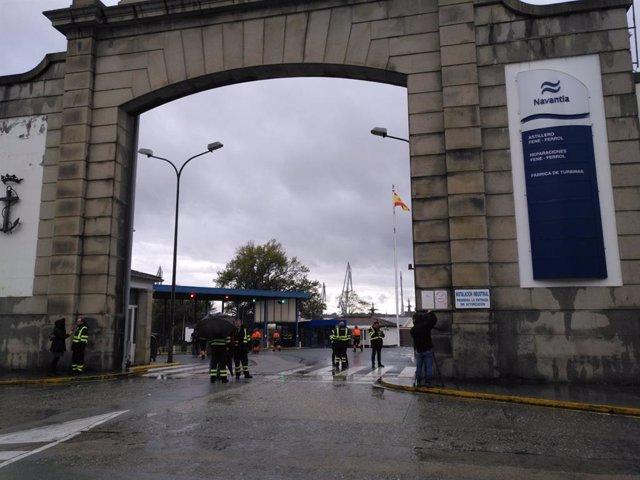 Integrantes del Comité de Navantia y de la industria auxiliar en Ferrol.