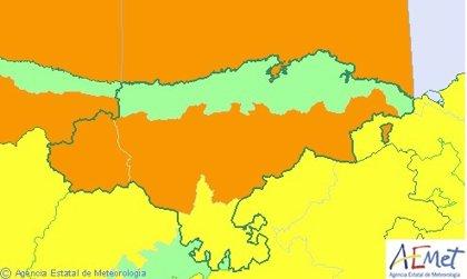 Se eleva a naranja el aviso por viento en Cantabria por rachas de hasta 110 km/h