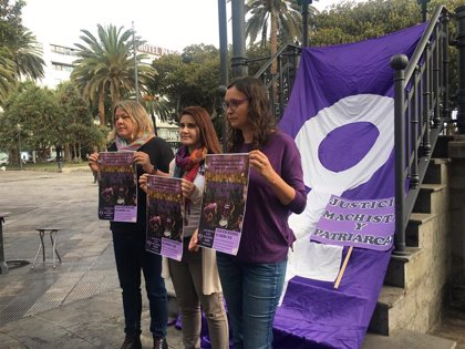 La Red Feminista de Gran Canaria cambia el silencio por el ruido para protestar el 25N contra la violencia de género