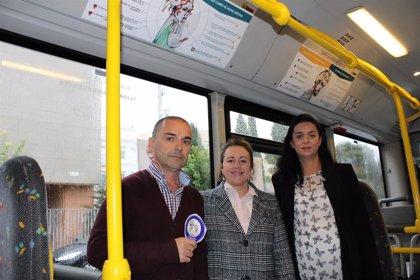 Los autobuses y taxis de Mérida se suman a una campaña para luchar contra las agresiones sexistas en la ciudad