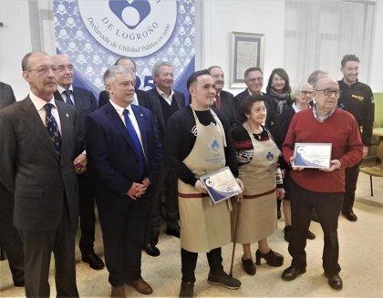 Federación de Peñas de Logroño y el padre escolapio José Alfaro, Delantales Solidarios 2019 de la Cocina Económica