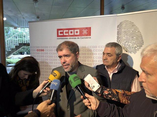 Unai Sordo y Carlos Sáncez, de CCOO