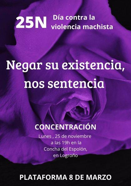 La Plataforma 8 de Marzo denuncia que La Rioja tiene la tasa más alta del país en violencia machista