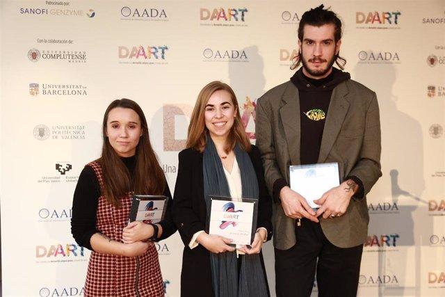 Los ganadores del concurso Lydia Moreno Carvajal, Marta Ruiz Anguera y Eric Crespo Iocco.
