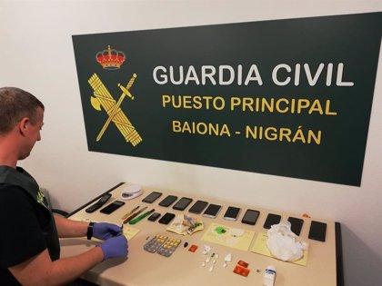 Oito detidos após desarticular dous puntos de venda de drogas en Baiona