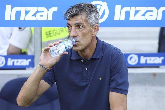 El entrenador de la Real Sociedad, Imanol Alguacil
